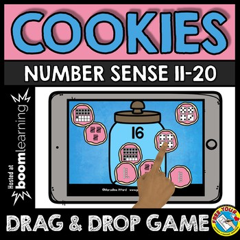 BOOM CARDS MATH TEEN NUMBERS KINDERGARTEN ACTIVITY (SUBITIZING GAME)