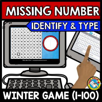 BOOM CARDS MATH WINTER ACTIVITIES (KINDERGARTEN NUMBERS TO 100 IPAD GAMES)