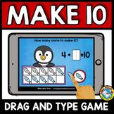 BOOM CARDS MATH DECEMBER ACTIVITIES (KINDERGARTEN MAKE 10 TO ADD IPAD GAMES)