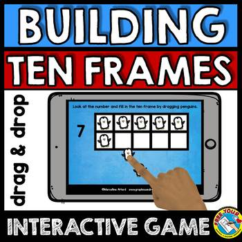 BOOM CARDS MATH WINTER ACTIVITIES (KINDERGARTEN TEN FRAMES IPAD GAMES)