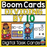 Division BOOM CARDS Math Dividing by 10 Distance Learning