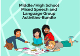 BOOM CARDS Middle/High School Mixed Speech and Language Group Activities Bundle