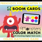 BOOM CARDS™ Monsters Color Matching