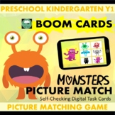 BOOM CARDS™ Monsters Picture Matching