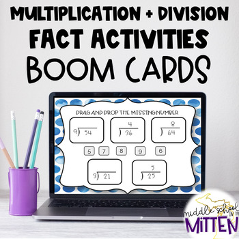 BOOM CARDS - Multiplication and Division Fact Fluency