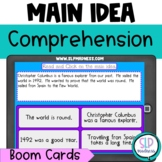 Main Idea Boom Cards Listening Comprehension Reading Strategies Speech Therapy
