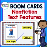 BOOM CARDS READING Nonfiction Text Features Human Body Theme DIGITAL TASK CARDS