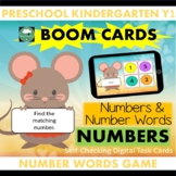 BOOM CARDS™ Number Word Matching 1-20