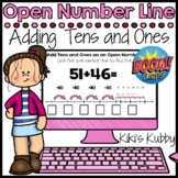 BOOM CARDS Open Number Line: Adding Tens and Ones (Deck 5) Distance Learning