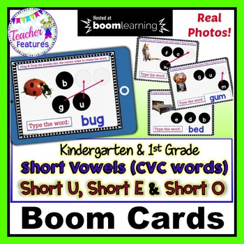 DIGITAL BOOM CARDS PHONICS & READING CVC WORDS