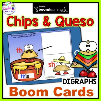 Distance Learning Boom Cards DIGRAPHS Cinco de Mayo for First Grade