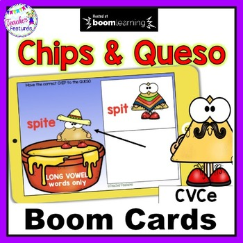 Distance Learning Boom Cards PHONICS Long Vowels and CVCe for Cinco de Mayo