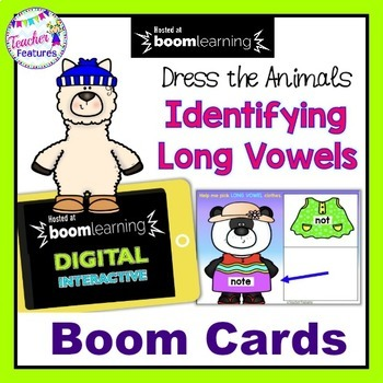 BOOM CARDS PHONICS | LONG VOWELS | CVCe | Dress the Animals