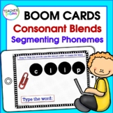 BOOM CARDS DIGITAL Segmenting Phonemes and Consonant Blends Activities