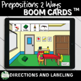 Prepositions Boom Cards™ Labeling and Following Directions with Visuals