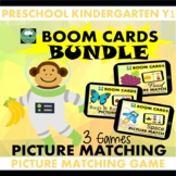 BOOM CARDS™ Picture Matching BUNDLE x3 Space Food BugsnBut