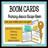 Digital Primary and Secondary Sources Escape Room with BOOM CARDS