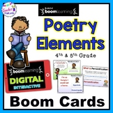 BOOM CARDS POETRY : ELEMENTS OF POETRY for Poetry Month