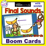 BOOM CARDS READING FINAL SOUNDS IN CVC WORDS PHONEMIC AWARENESS