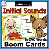 BOOM CARDS PHONOLOGICAL AWARENESS : READING INITIAL SOUNDS IN CVC WORDS