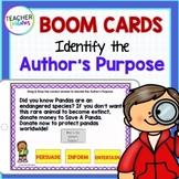 DIGITAL BOOM CARDS READING Author's Purpose 2nd Grade CCSS RI.2.6