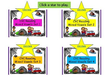 BOOM CARDS - Reading CVC Words Mixed Vowels