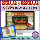 BOOM CARDS Regular and Irregular Past Tense Verbs - Teletherapy NO PRINT