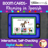 BOOM CARDS Rimas- Rhyming in Spanish