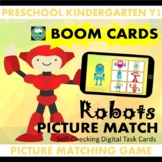 BOOM CARDS™ Robots Picture Matching