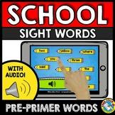 BOOM CARDS SIGHT WORDS (BACK TO SCHOOL ACTIVITY KINDERGART