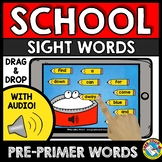 BOOM CARDS SIGHT WORDS (BACK TO SCHOOL ACTIVITY KINDERGART