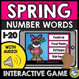 SPRING ACTIVITY KINDERGARTEN BOOM CARDS (NUMBER WORDS AUDI
