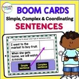 BOOM CARDS ELA & GRAMMAR 3rd Grade Simple, Compound and Complex Sentences