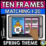 BOOM CARDS SPRING ACTIVITY KINDERGARTEN (COUNTING TEN FRAMES 1-20 GAME)