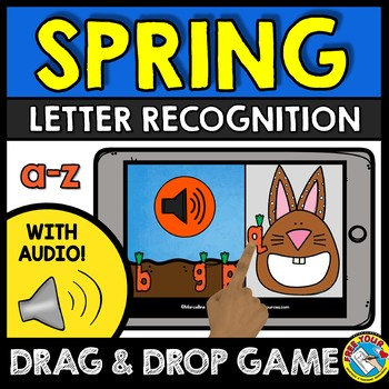 BOOM CARDS SPRING ACTIVITY KINDERGARTEN (LETTER RECOGNITION GAME WITH AUDIO)