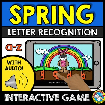 SPRING ACTIVITY KINDERGARTEN LETTER RECOGNITION GAME BOOM LEARN DISTANCE LEARN