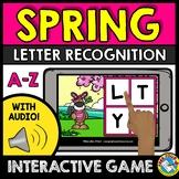 BOOM CARDS SPRING ACTIVITY KINDERGARTEN (LETTER RECOGNITIO