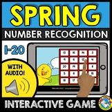 BOOM CARDS SPRING MATH ACTIVITY KINDERGARTEN NUMBER RECOGNITION 1-20 ASSESSMENT
