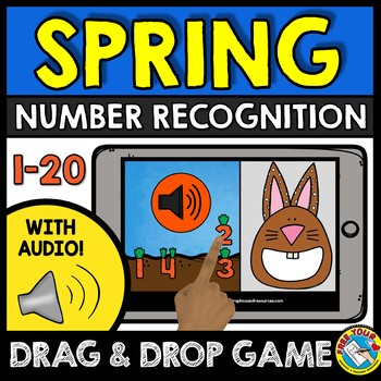 BOOM CARDS SPRING ACTIVITY KINDERGARTEN (NUMBER RECOGNITION 1-20 GAME WITH AUDIO