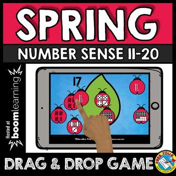 BOOM CARDS SPRING ACTIVITY KINDERGARTEN (NUMBER SENSE TO 20 IPAD GAMES)