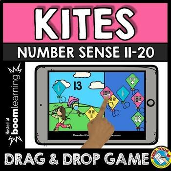BOOM CARDS SPRING ACTIVITY KINDERGARTEN (NUMBER SENSE TO 20 IPAD GAMES)
