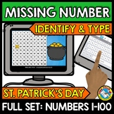 BOOM CARDS ST PATRICKS DAY ACTIVITY (KINDERGARTEN HUNDREDS CHART MISSING NUMBERS