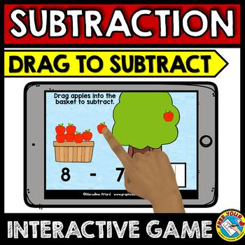 BOOM CARDS SUBTRACTION GAMES BUNDLE (SUBTRACTION WITH PICTURES)