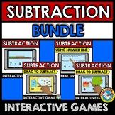 BOOM CARDS KINDERGARTEN MATH BUNDLE (SUBTRACTION GAMES WITH PICTURES)