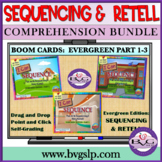 Distance Learning BOOM CARDS Sequencing   Story Retell BUN