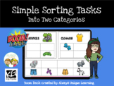 BOOM CARDS - Simple Sorting Tasks into Two Categories - ABLLS-R B17