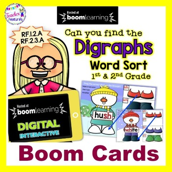 BOOM CARDS Snowman | Digraphs | Winter