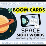 BOOM CARDS™ Space SIGHT WORDS - Dolch List 1 Distance Learning