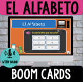 Distance Learning Spanish Alphabet BOOM CARDS