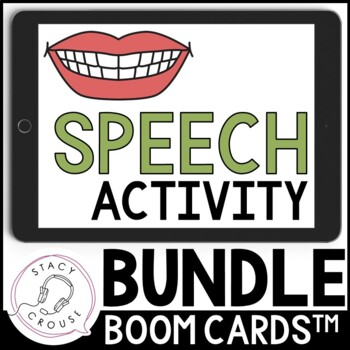 BOOM CARDS™ Speech Activity BUNDLE